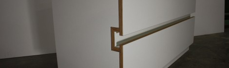Sideboard in weißem Multiplex