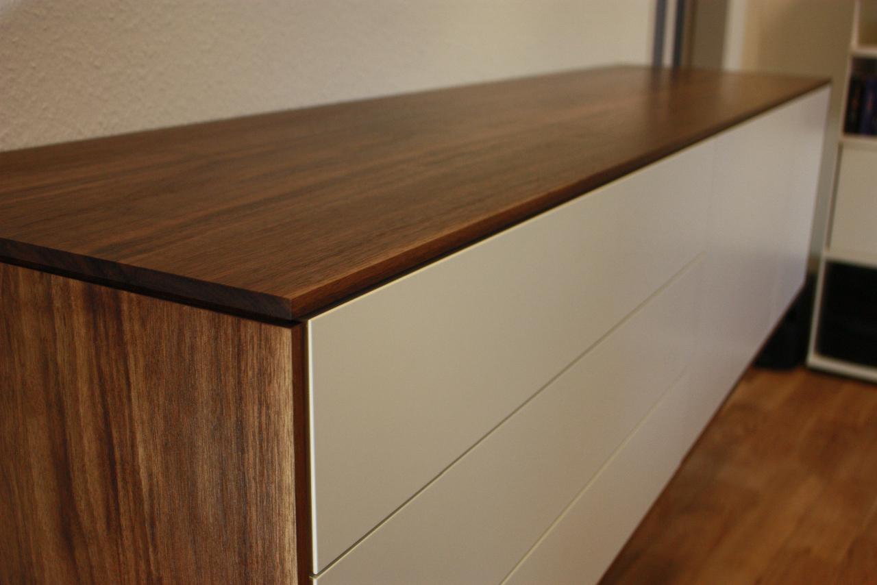 sideboard in nussbaum singer schreinerei. Black Bedroom Furniture Sets. Home Design Ideas