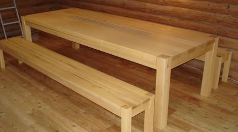 tisch bank in l rche singer schreinerei. Black Bedroom Furniture Sets. Home Design Ideas