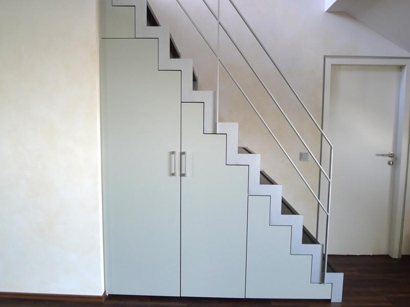 einbauschrank unter treppe fronten nach ral lackiert. Black Bedroom Furniture Sets. Home Design Ideas
