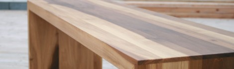 Bank in tulip wood (Tulpenholz)