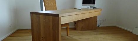 Schreibtisch über Eck in Eiche