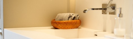 Bad Waschtisch in Corian