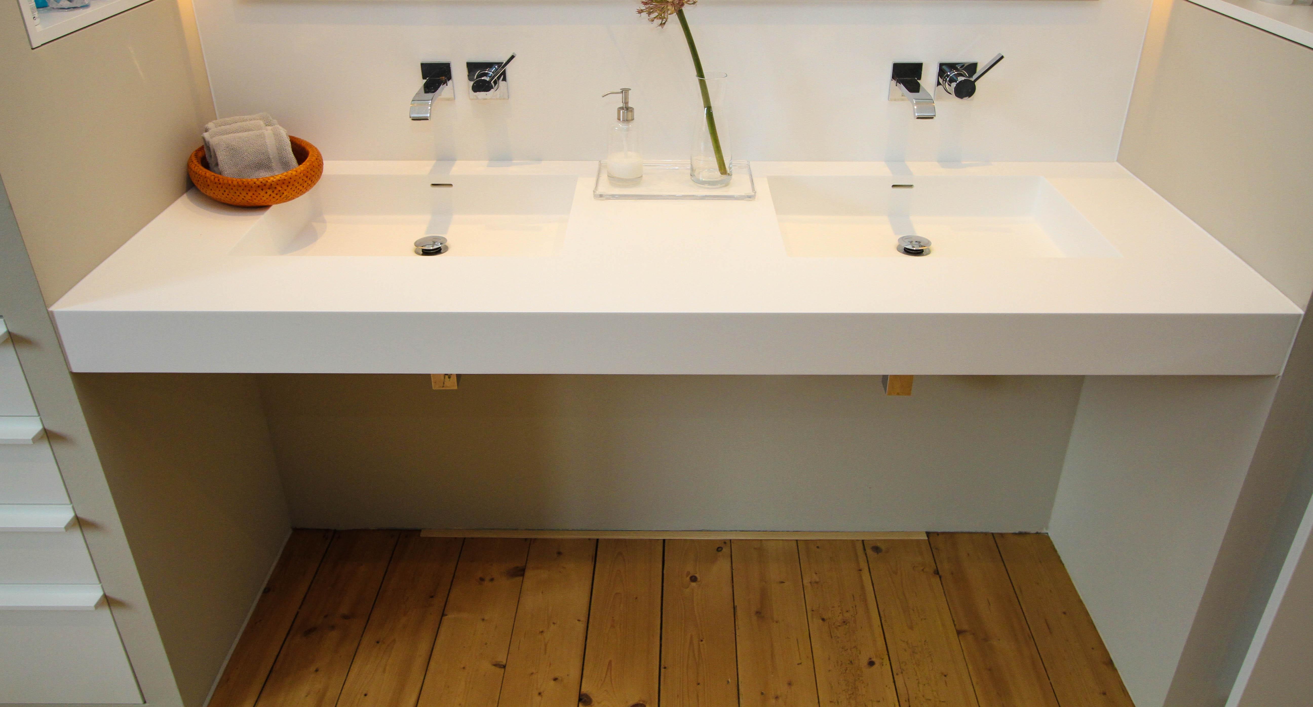 Tisch Zargenlos ~ Bad Waschtisch in Corian – singerSCHREINEREI