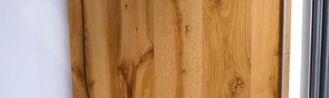 Schiebetür aus Altholzeiche